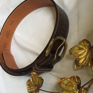 Antelope Grain Cowhide Leather Belt 30
